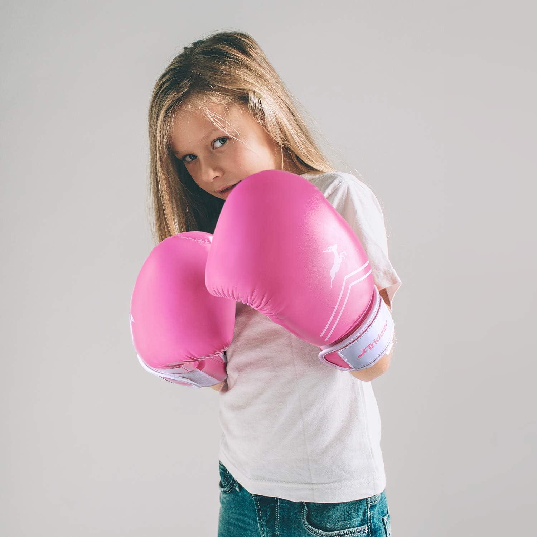 Bay FreshMesh Boxing Gloves Ladies Childrens Kids White Pink Kickboxing Lady Pink Mesh