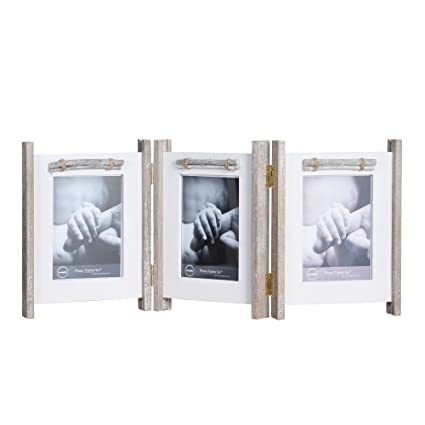 Amazon.com - Yaetm Folding Photo Frame 5x7 Inch Hinged Rustic Solid ...