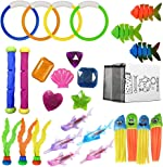 24 Pack Diving Pool Toys Swimming Training Toy Dive Summer Water