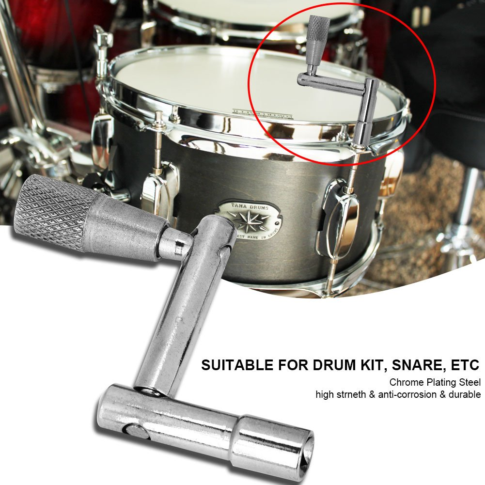 4Pcs Tension Drum Key Chrome Plate/ó el Acero Universal Drum Key Tuning Tools Square Accesorio del Z/ócalo
