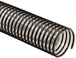 "Flex-Tube PV PVC Duct Hose, Clear, 5"" ID, 0.035"" Wall, 25' Length"