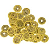 "50 Large Brass Chinese I Ching Coins for Feng Shui (1.1""/27 mm) AA139"