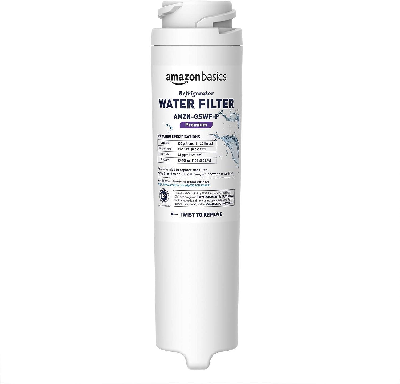 AmazonBasics Replacement GE GSWF Refrigerator Water Filter Cartridge - Premium Filtration