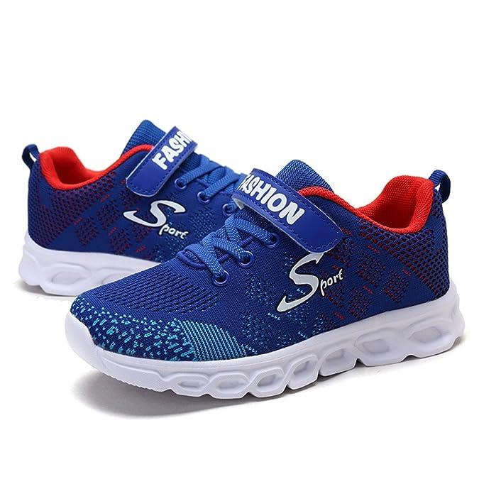 ASHION Scarpe da Ginnastica Camuffamento Sneakers Unisex Bambino Respirabile Mesh Scarpe da Corsa all'aperto Sneakers x3j6Nm