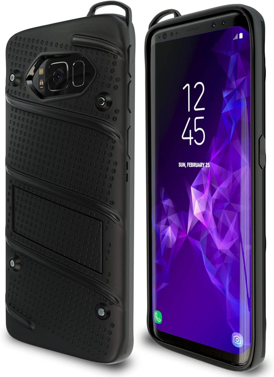 Samsung Galaxy S8 Plus Case | Military Grade | 15ft. Drop Tested | Protective Case | Kickstand | Shockproof | Wireless Charging | Dual Layer Heavy Duty | Compatible with Samsung Galaxy S8 Plus - Black