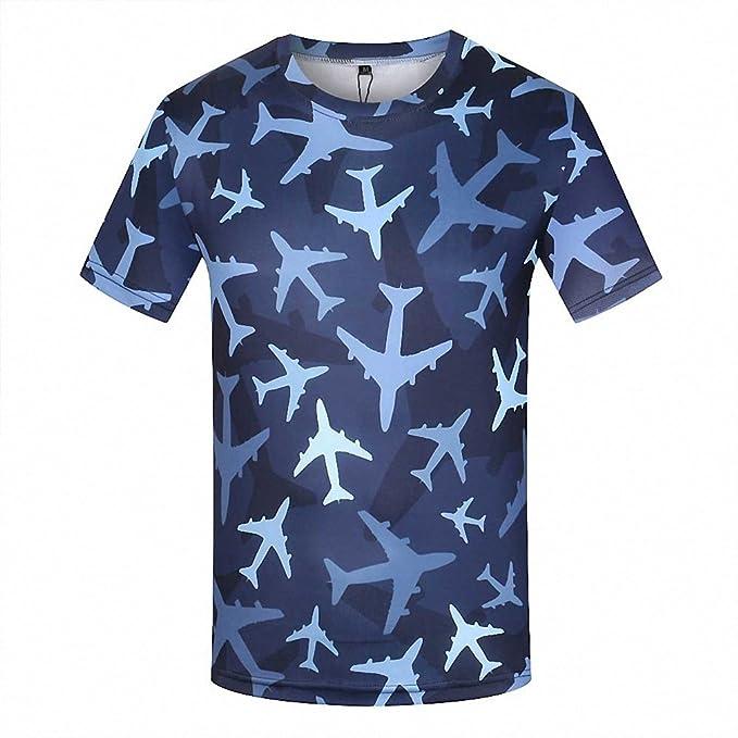 Camiseta Amazon Del Camisetas Camuflaje Militar De Azul Aviones 3d Shirt Ejército T Fitness Fashion Hombre es Verano wx0xZ
