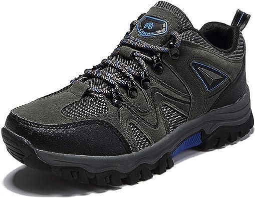 Zapatillas de Trekking para Hombre Botas de Senderismo Impermeables Botas de Monta/ña Antideslizantes AL Aire Libre Deportivas Sneakers