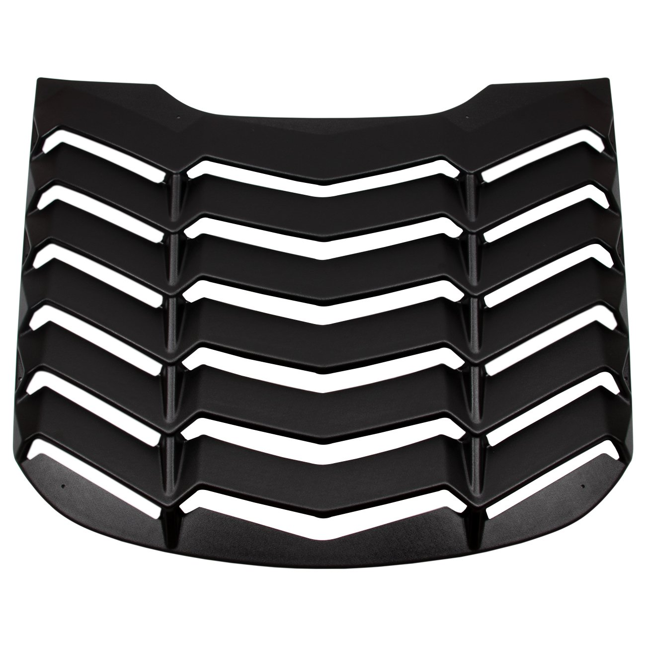 Yoursme Rear and Side Window Louvers Scoop Matte Black ABS Sun Shade Cover in GT Lambo Style Fits for Ford Mustang 2015 2016 2017 2018 2019