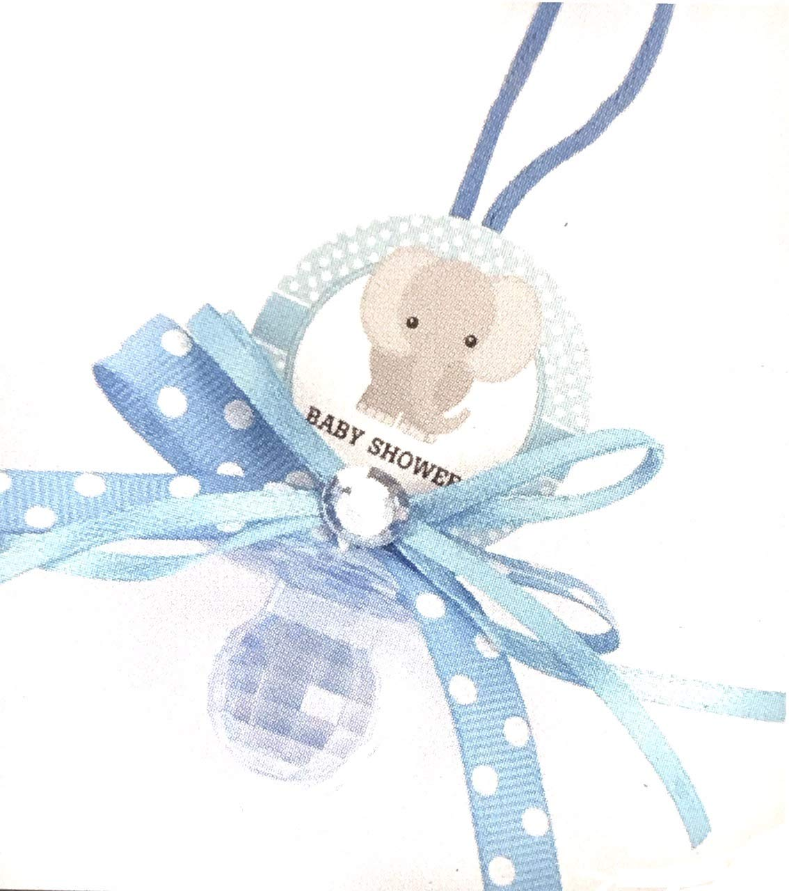 Blue Elphant 12 Pacifier Necklaces Baby Shower Game Favors Prizes Boy Decor by OOKi
