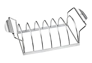 GEFU BBQ Premium Barbecue Spare Rib Rack, Holds 6 Portions, Works in Kettle Ovens and Grills