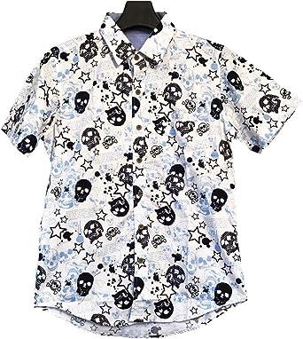 Camisa Hawaiana - Manga Corta - Estampado Calavera - Rock - Skull - Corte Ajustado - GL Boutik (M): Amazon.es: Ropa y accesorios