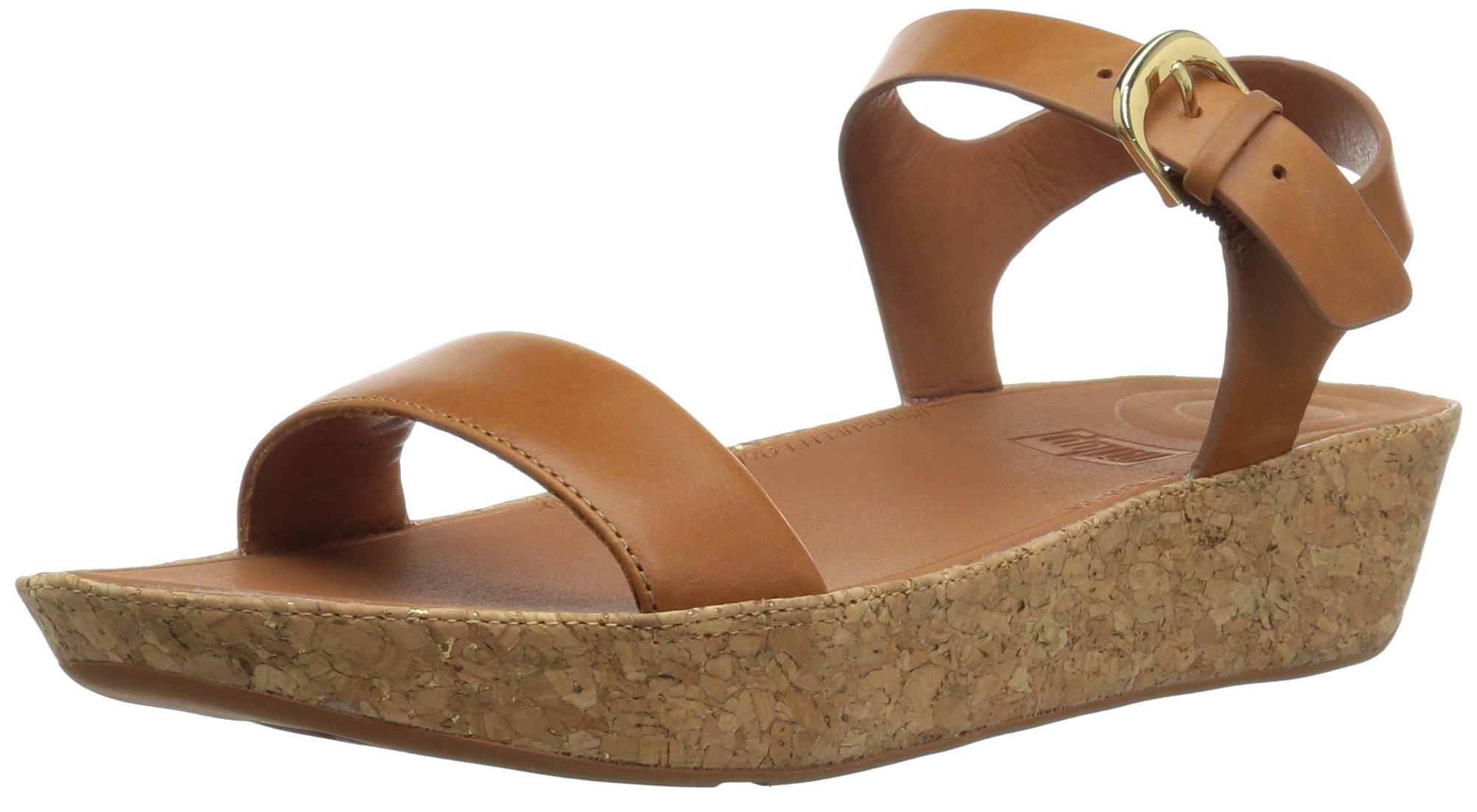 FitFlop Women's Bon II Back-Strap Sandals Medical Professional Shoe, Caramel, 7 M US