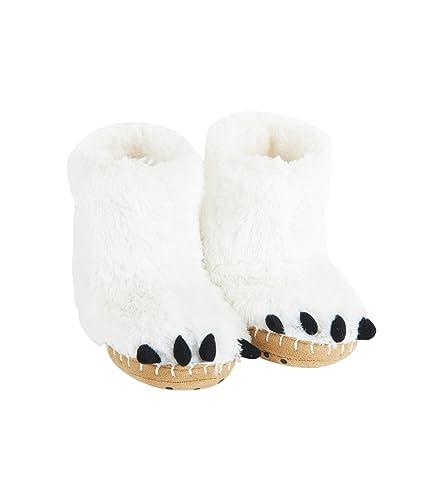 Hatley Lbh - Bear Paws - Zapatillas de Estar Por casa de sintético para Niño, Color Blanco, Talla Talla S