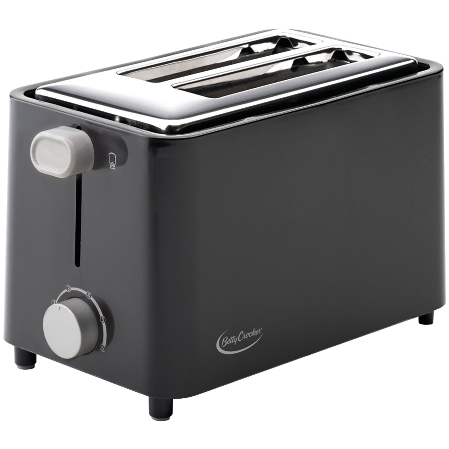 Betty Crocker BC-2605CB RA28686 2-Slice Toaster (Black)