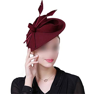 Fascinators Winter Hats For Women Elegant Wool Felt Pillbox Hat Girls Lady  Formal Church Wedding Dress Fedoras  Amazon.co.uk  Clothing 3b72c338aa0f