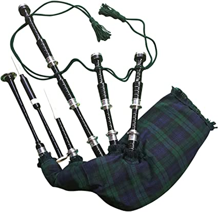 Gran Highland Gaita Palisandro Plata cantidades/Gaita Escocesa con estuche rígido: Amazon.es: Instrumentos musicales