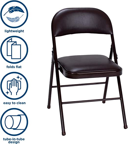 Black Folding Chair - Remarkable Back Support