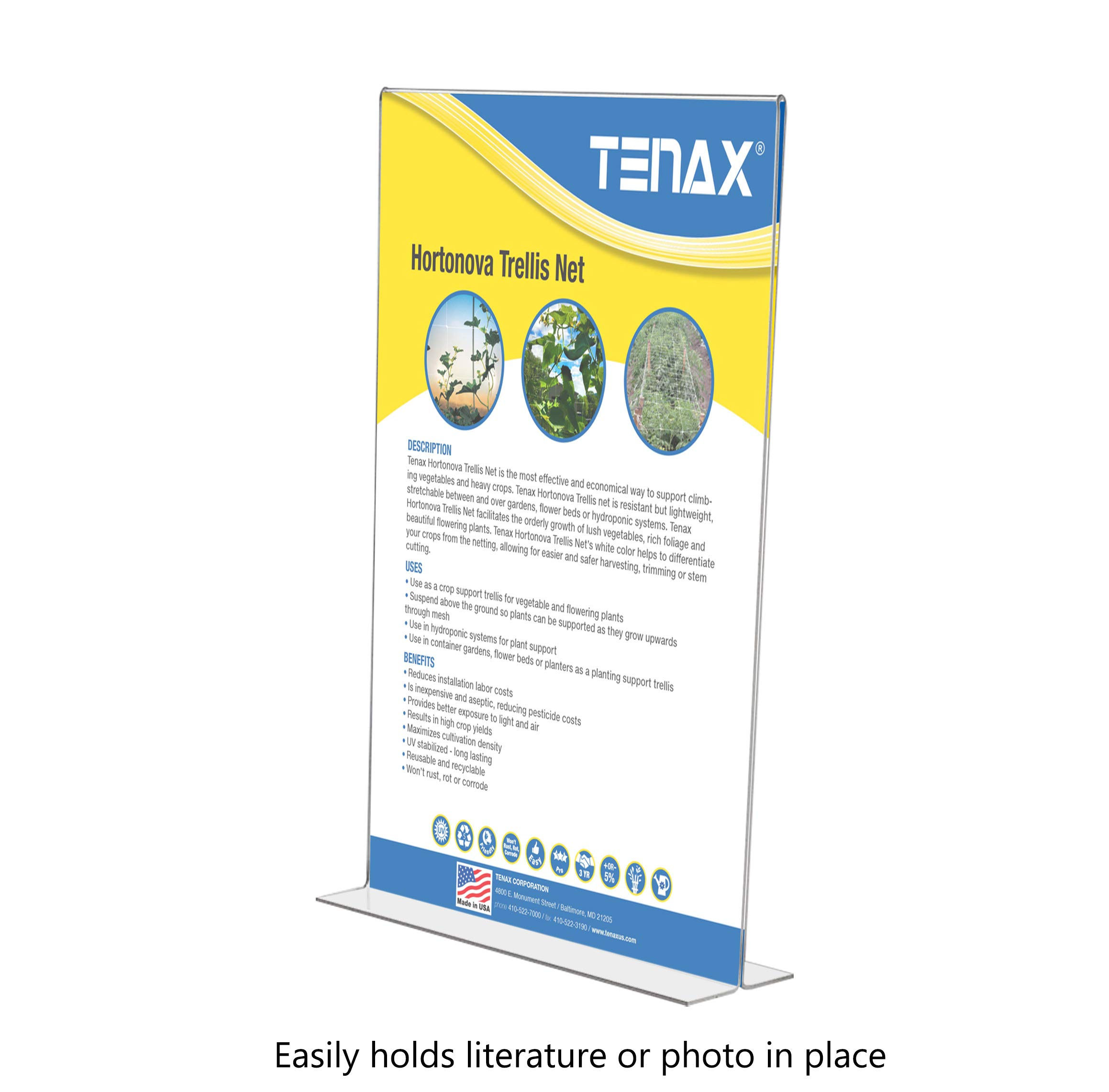 Marketing Holders Literature Flyer Poster Frame Letter Notice Menu Pricing Deli Table Tent Countertop Expo Event Sign Holder Display Stand Double Sided Bottom Loading 11''w x 17''h Pack of 4 by Marketing Holders (Image #2)