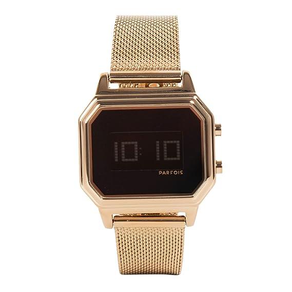 Parfois - Reloj Digital - Mujeres - Tallas Única - Dorado: Amazon.es: Relojes