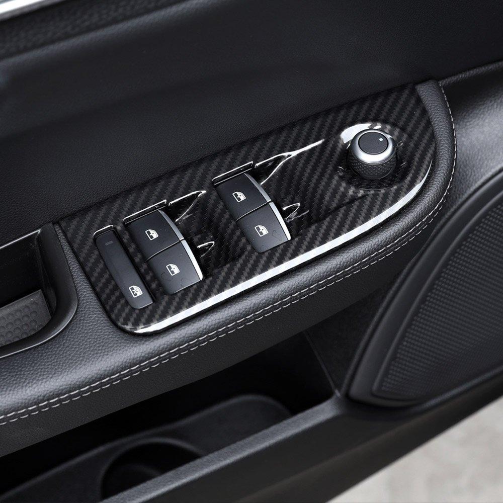 2/x Carbon Faser Stil ABS Kunststoff Lenkrad Dekoration Rahmen Besatz f/ür Giulia Stelvio