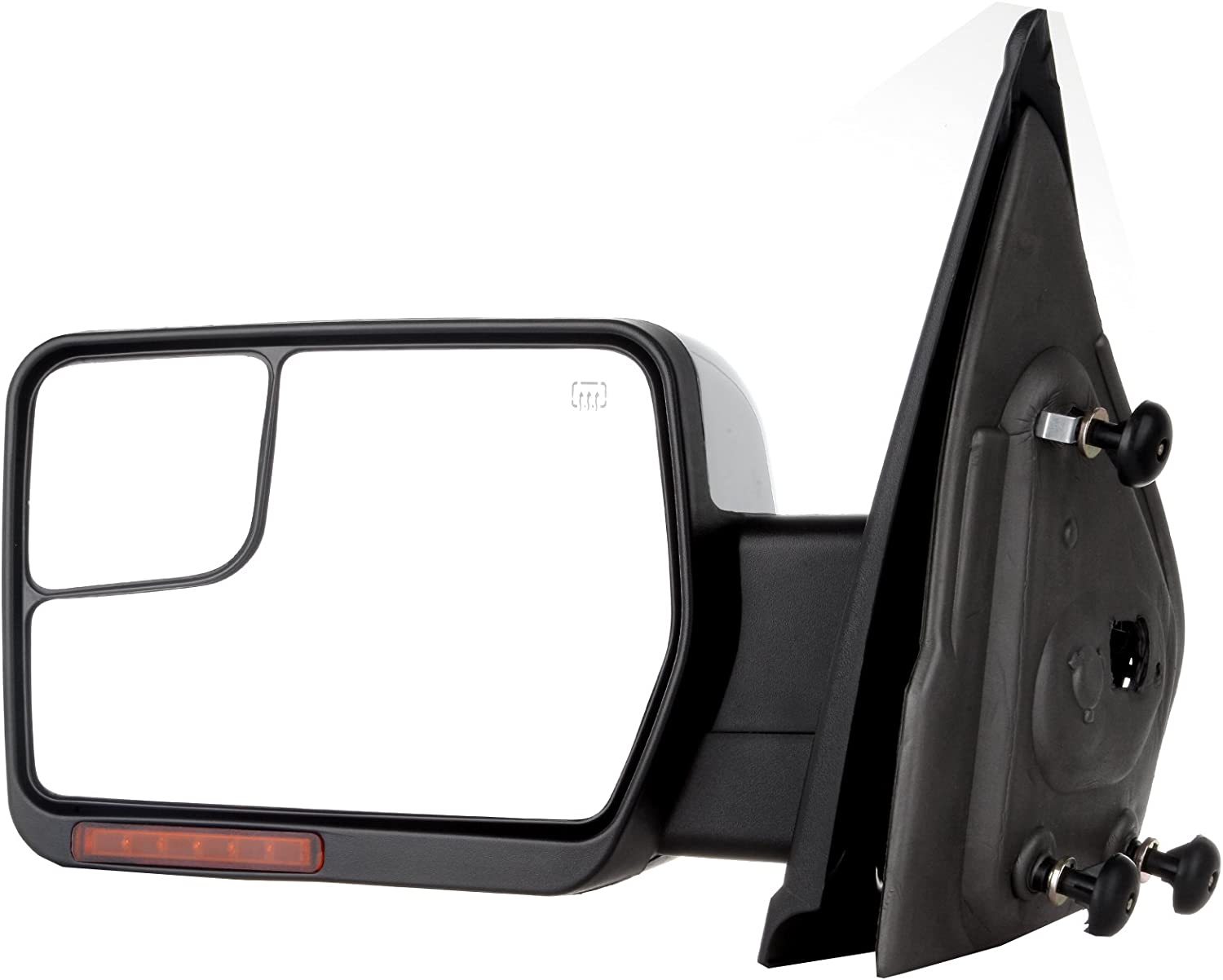 SCITOO Ford Towing Mirrors Right Passenger Side Rear View Mirrors fit 2007-2014 Ford F-150 with Power Control Heated Manual Telescoping Manual Folding Turn Signal Light and Puddle Light Feature