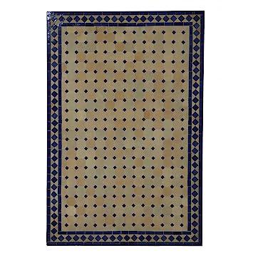 Casa Moro MT2120 Table de Jardin rectangulaire en mosaïque Bleu ...