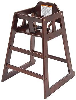 Winco CHH-103 Wooden High Chair, Mahogany