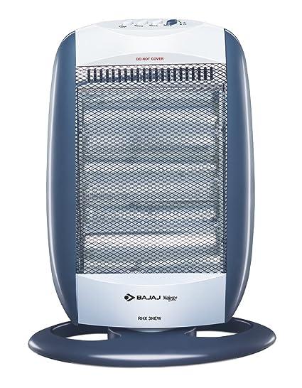 Bajaj New Majesty Rhx 3 1200 Watts Halogen Room Heater Blue