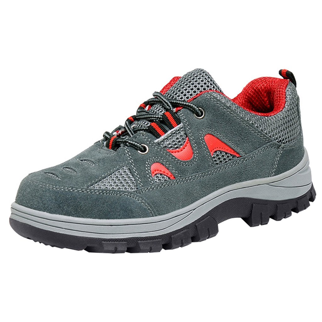 Optimal Product Men's Safety Shoes Work Shoes Comp Steel Toe Red EU43 US9