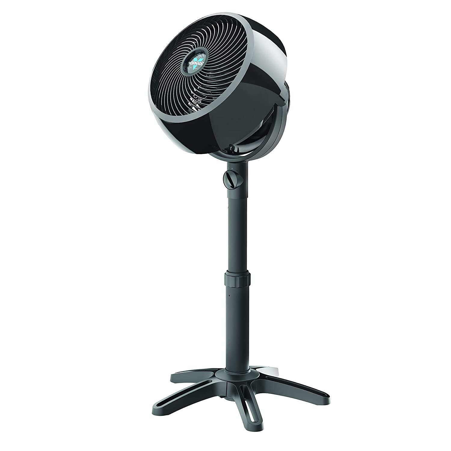 Black 3 Speed Settings Removable Grill for Cleaning Multi-Directional Airflow Vornado 5303 Small Whole Room Air Circulator Fan with Base-Mounted Controls
