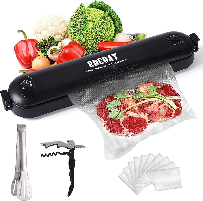 Vacuum Sealer Machine,Food Vacuum Sealer,Small Household Vacuum Preservation Machine,Suitable for Dry,Solid Food Preservation,With 10 Pcs Vacuum Sealed Bags,Food Clips,Wine Bottle Opener
