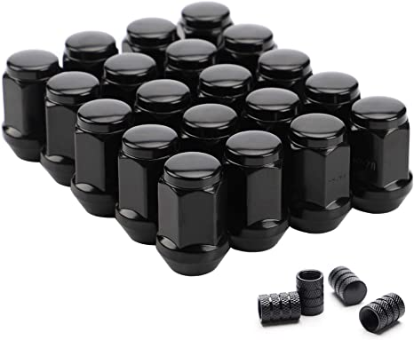 DPAccessories LCB3B2HE-BK04016 16 Black 1//2-20 Closed End Bulge Acorn Lug Nuts Cone Seat 3//4 Hex Wheel Lug Nut
