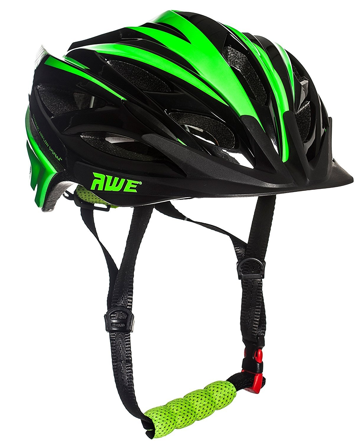 AWE® awebladetm libre 5 Año Crash de repuesto * En molde Junior casco de ciclismo (52 – 56 cm), color negro/verde