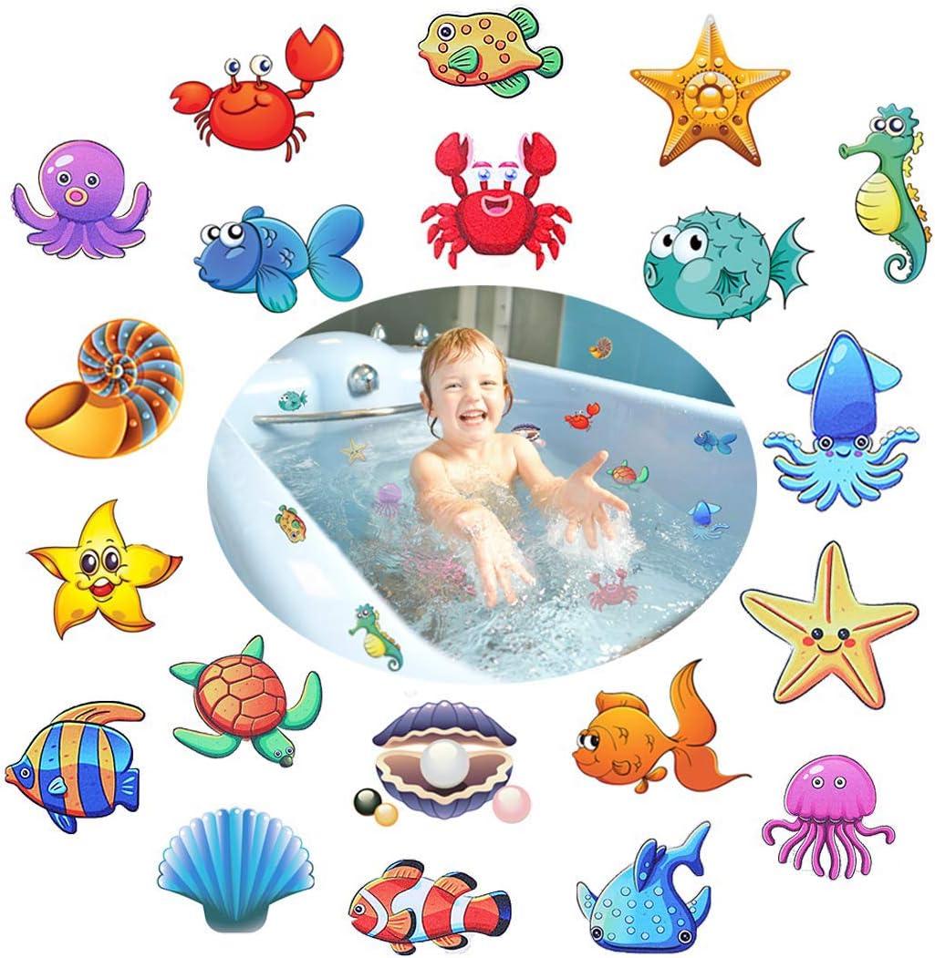 Sicherheitsaufkleber Secopad Rutschfeste Badewannen-Aufkleber Schaber Trittfl/ächen Pink Badewannen Duschen f/ür Badezimmer selbstklebend