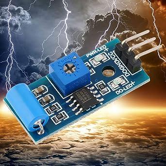 10pcs normalmente cerrado tipo sensor de vibración SW-420 3.3V-5V Sensor de
