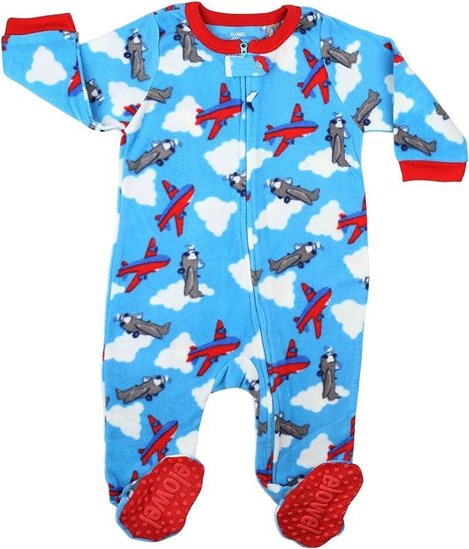 100/% Polyester Weich Gestreift elowel Schlafanzug Unisex Jungen Pyjama Strampler Einteiler 5 Jahre Fleece Stylish Gr/ö/ßen: 6 Monate M/ädchen Bequem mit F/ü/ßen Rot-Gr/ün-Wei/ß