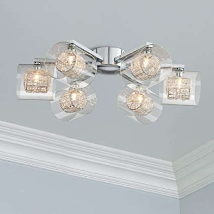 Admirable Possini Euro Wrapped Wire 24 Wide Chrome Ceiling Light Possini Wiring 101 Archstreekradiomeanderfmnl