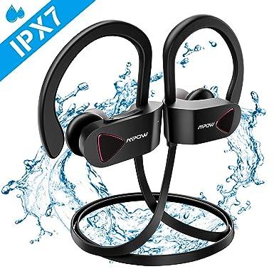 a80713749d7 Mpow Auriculares Inalámbricos IPX7, Bluetooth 4.1 Auriculares Deportivos  IPX7, A2DP Auricular Deporte Correr Manos