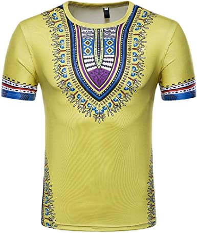 Beeatree - Camiseta de Manga Corta para Hombre, diseño de Dashiki Africano: Amazon.es: Ropa y accesorios