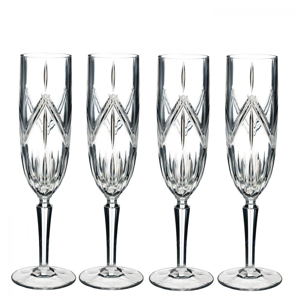 Marquis By Waterford 40032083 Lacey Flute Set of 4, 8 ounce, Clear
