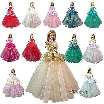 1dc03f8dbb37 Image Unavailable. Barwa Random Styles 7 Pcs Handmade Fashion Wedding Party  Gown ...