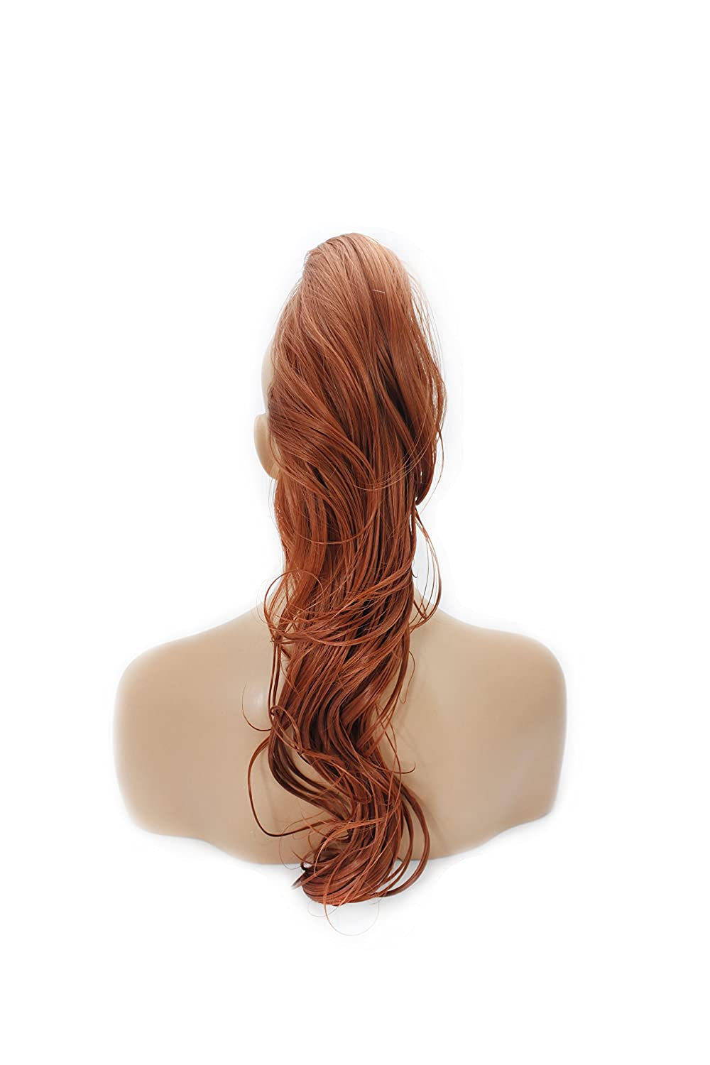 22 Ponytail - Flick - Copper #350 - Claw Clip Attachment - Reversible 2 Styles in 1 - Heat Resistant Synthetic Fibre - Clip in Hair Piece - Looks and Feels like Real Hair - 200g by Elegant Hair
