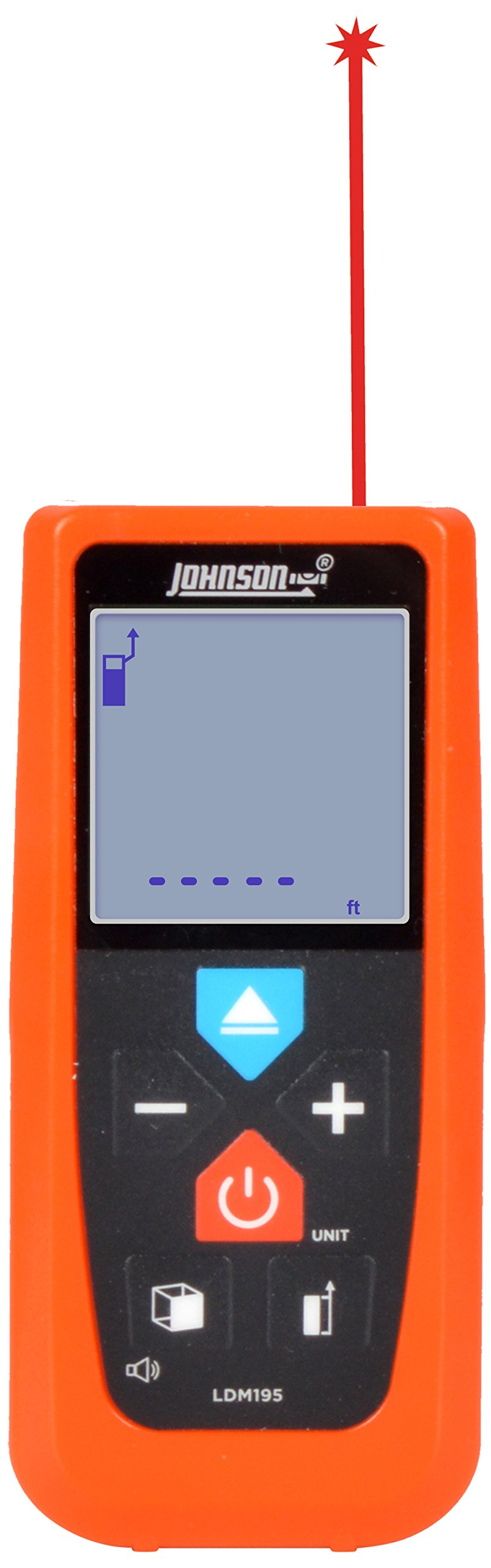 Johnson Level & Tool LDM195 195' Laser Distance Meter with Angle Sensor