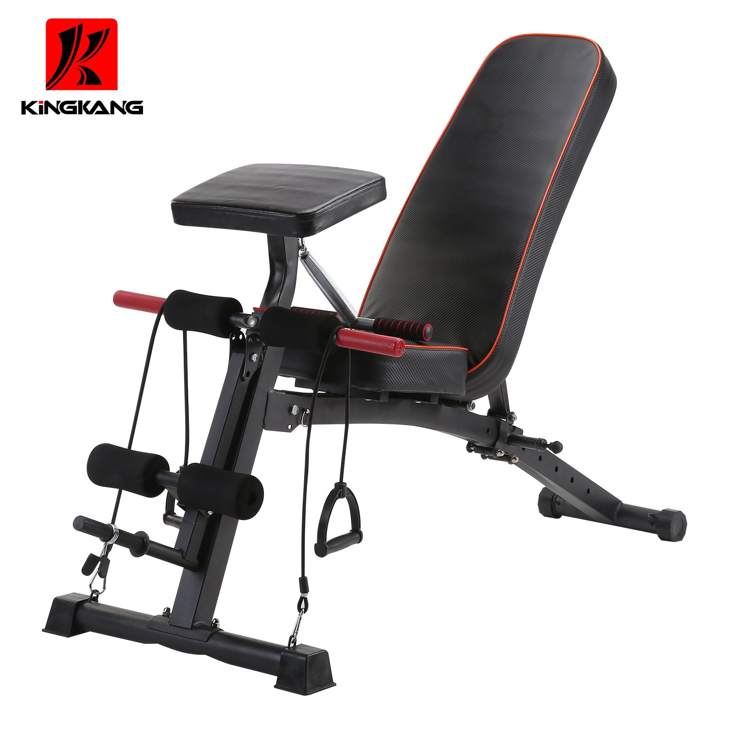 KiNGKANG K Adjustable Utility Bench sit Up Bench Foldable Fitness Training Weight Bench