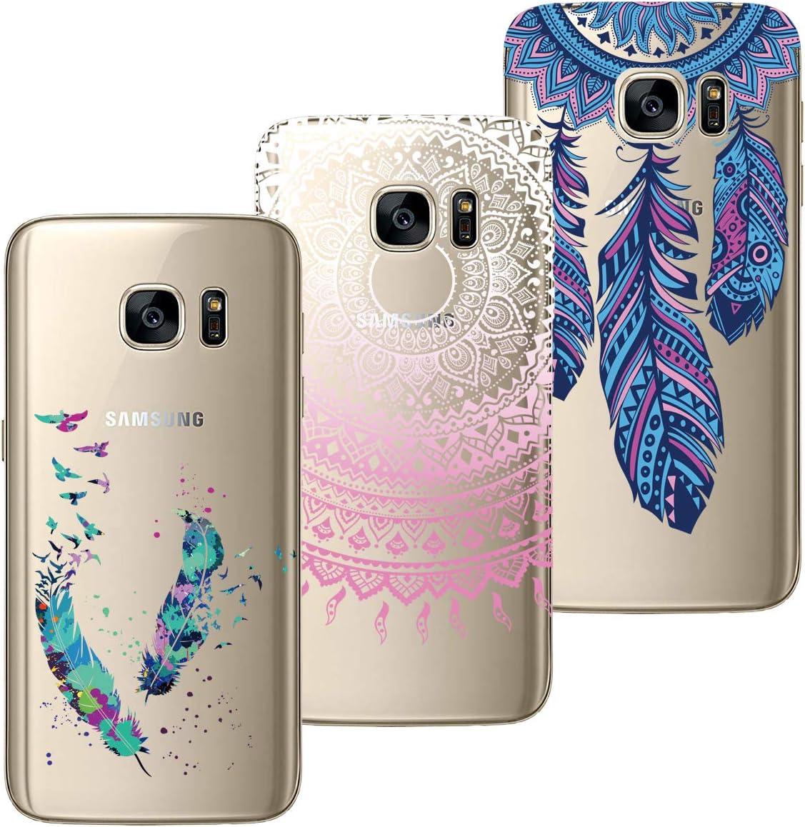 Kleiner Panda HopMore 3D Schutzh/ülle f/ür Samsung Galaxy S7 Edge H/ülle Silikon Tier Panda Einhorn Muster Ultra D/ünn Slim Handyh/ülle One Piece Silikonh/ülle Case Cover f/ür Samsung S7 Edge