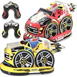 Kid Galaxy Remote Control Bumper Cars. RC 2 Player Game. 2 Cars and 2 Controllers Included