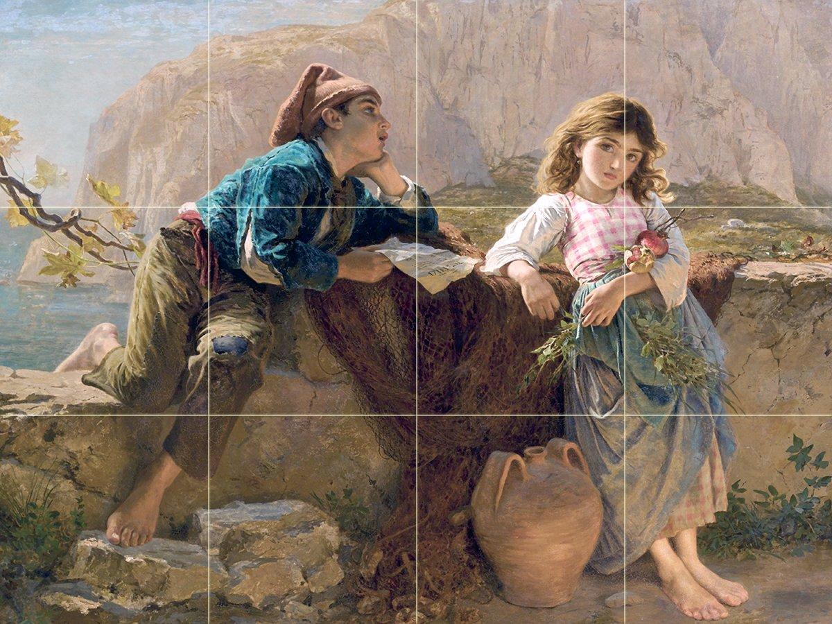 Fisherman S Children Capri S Anderson Girl Tile Mural