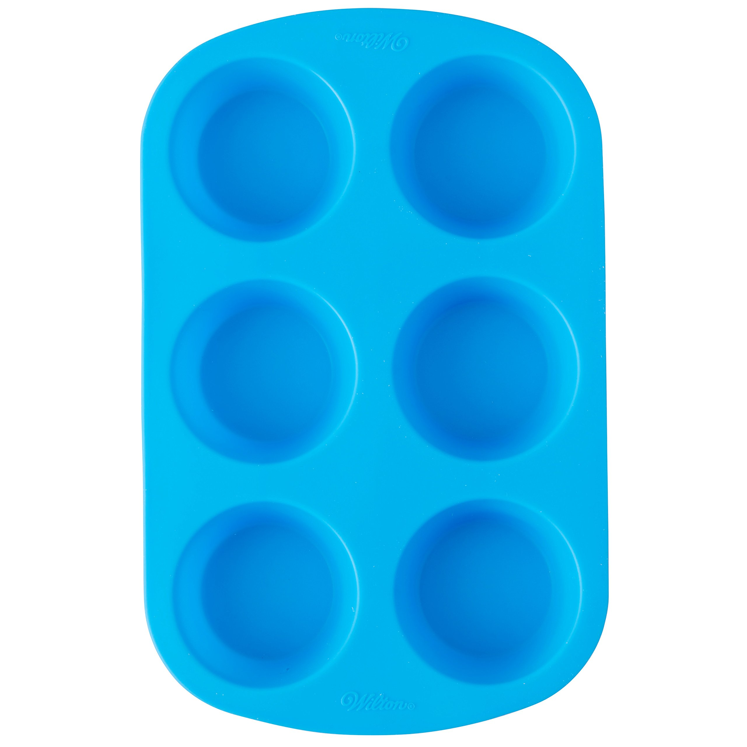 Wilton Easy-Flex Silicone Muffin and Cupcake Pan, 6-Cup