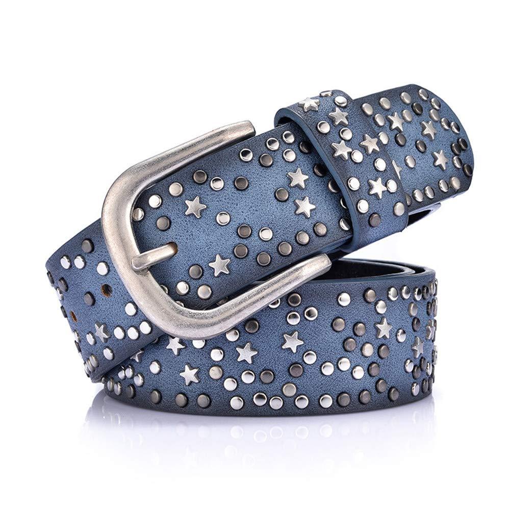 bluee Ladies Belt Women Leather Reversible Belt for Jeans Dress Pants Ladies Belts (color   Black)