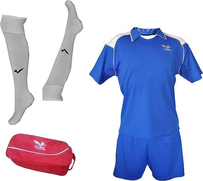 ZICO ESPAÑA Conjunto equipación Fútbol Hombre Azul Royal, Camiseta-pantalón+Medias, (L): Amazon.es: Deportes y aire libre